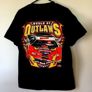 World of Outlaws Car Racing Shirt 2017 Men's L
